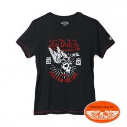 T-shirt Von Dutch Tête de mort Casque Ailé