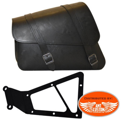 Sportster Sacoche latérale cuir avec support XL883 XL1200 Harley
