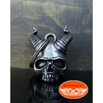Lucky Bell Skull Satan Horns of Hell