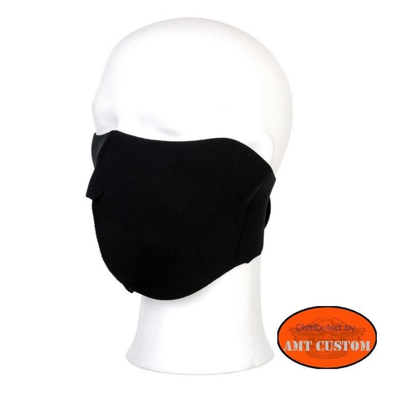 Black Neoprene Half Face Mask motorcycle