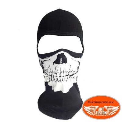 Cagoule masque moto Tête de Mort Skull.