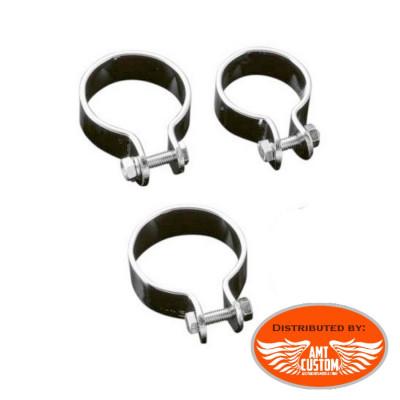 Exhaust clamp muffler chrome