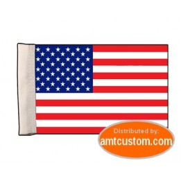 US flag pennant for motorcycle's mast