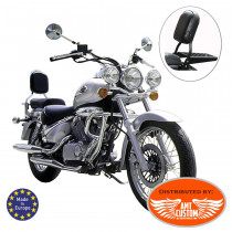 SuzuKi-VL125-VL250-Sissy-Bar-Rack-porte-bagage-Intruder-noir-chrome