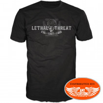 T-shirt Lethal skull highway to hell - Avant
