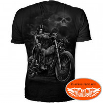T-shirt Lethal skull highway to hell - Dos