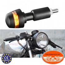 Small Black Turn signals LED Handlebar End BL 2000