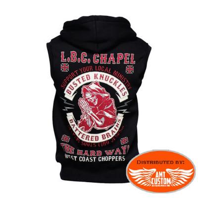 Gilet capuche West Coast Choppers  666 - Impression Dos
