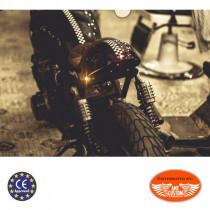 Mini clignotant arriere chrome CE Obus Atto Kellermann