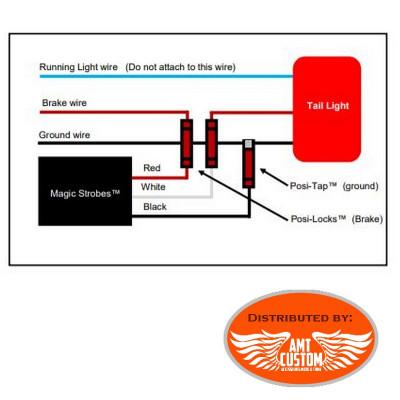 Schéma de branchement centrale Brake Flasher