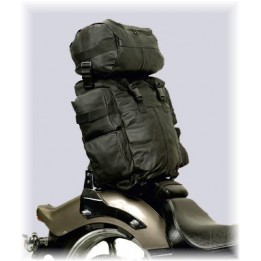 Bag Leather Sissybar Moto custom Harley Biker