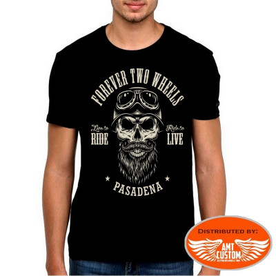 """T-Shirt Biker Skull """"Forever two weels """""""