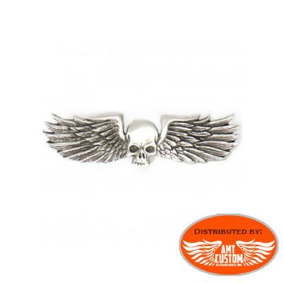 Winged skull pins