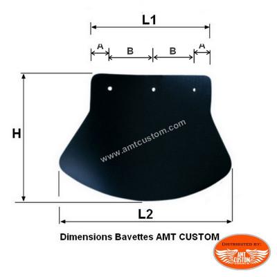 Dimensions Bavette Garde Boue Moto et Trike Noir