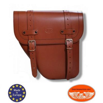 Sacoche latérale Universelle Gauche cuir brun clair / Centurion