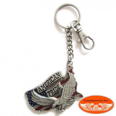 American Pride Eagle USA keyring