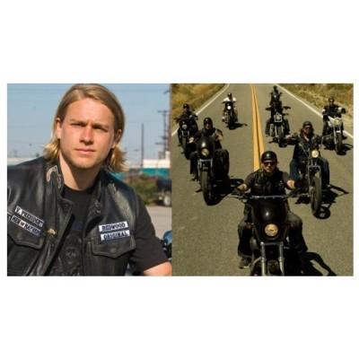 Leather vest type Son of Anarchy motorcycle harley custom biker chopper