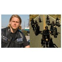"Gilet ou Sur-Blouson Cuir Biker Type ""Son Of Anarchy"" moto custom Harley Trike"