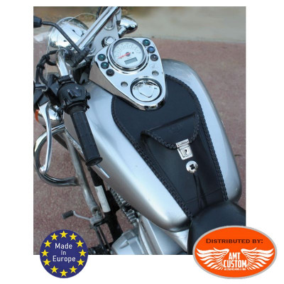 Honda Leather tank panel bib with Holster Shadow VT