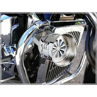 Sirène turbine 12 volt DC - Police US - motos trikes sur pare cylindre custom harley