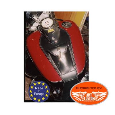 Yamaha Leather tank panel bib with Holster