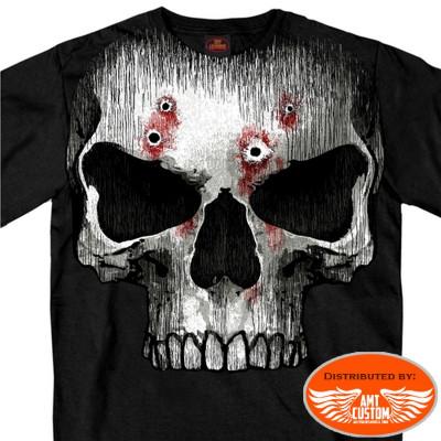 T-shirt Biker Skull Bullet