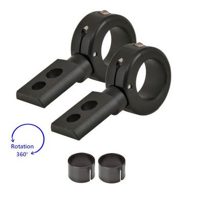 """360° Black Universal Mounting Bracket Kit 7/8""""-1""""3/4"""
