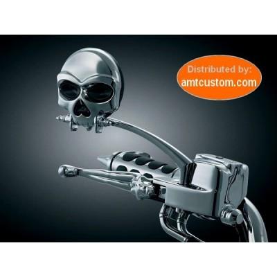 Rétroviseurs Tête de Mort Skull Zombie chrome moto custom Harley choppers trike