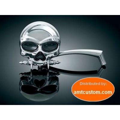 Rétroviseurs Tête de Mort Skull Zombie chrome moto custom Choppers trike Harley Mirrors