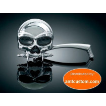 2 Mirrors Chrome Skull Skeleton Zombie Harley Davidson Custom