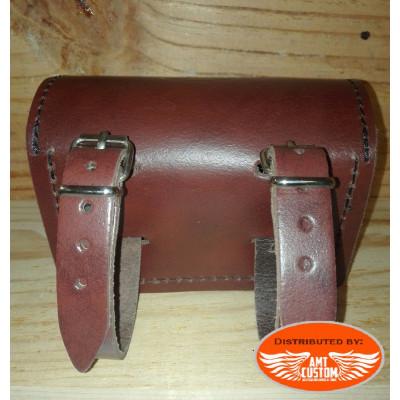 Sacoche universelle Small cuir Marron Verrou cadenassable