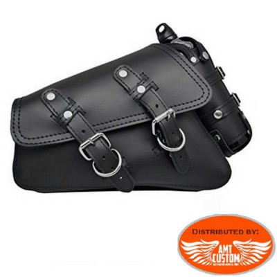 Triangular Side Sportsterbag with fuel bottle for Harley Sportster