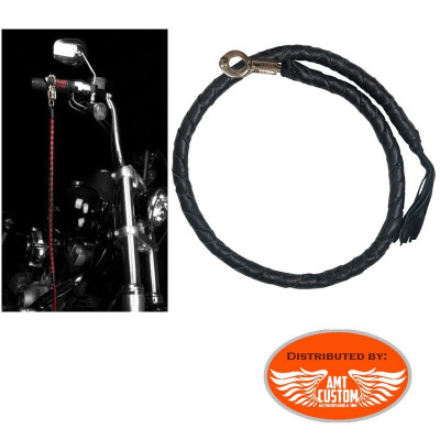 Black Get back Whip genuine Leather biker custom Harley