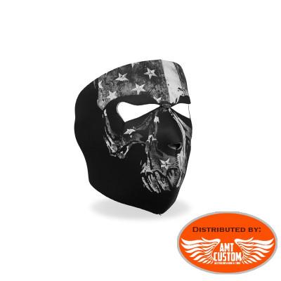 USA biker neoprene mask.