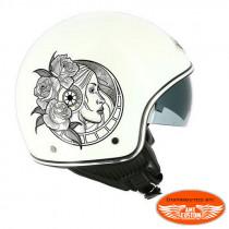 Casque Biker MiniJet New Trad Blanc Brillant