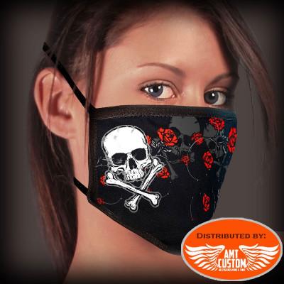 Mask lady skull rose