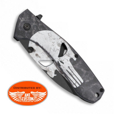Couteau Pliable Tête de Mort Punisher HD