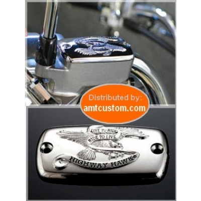 "Mastercylindre covers Eagle Chrome ""Live To Ride"" Yamaha custom harley trike"