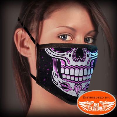 Pink skull jaw mask