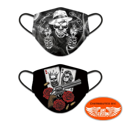 Reversible playing cards / gun protective mask