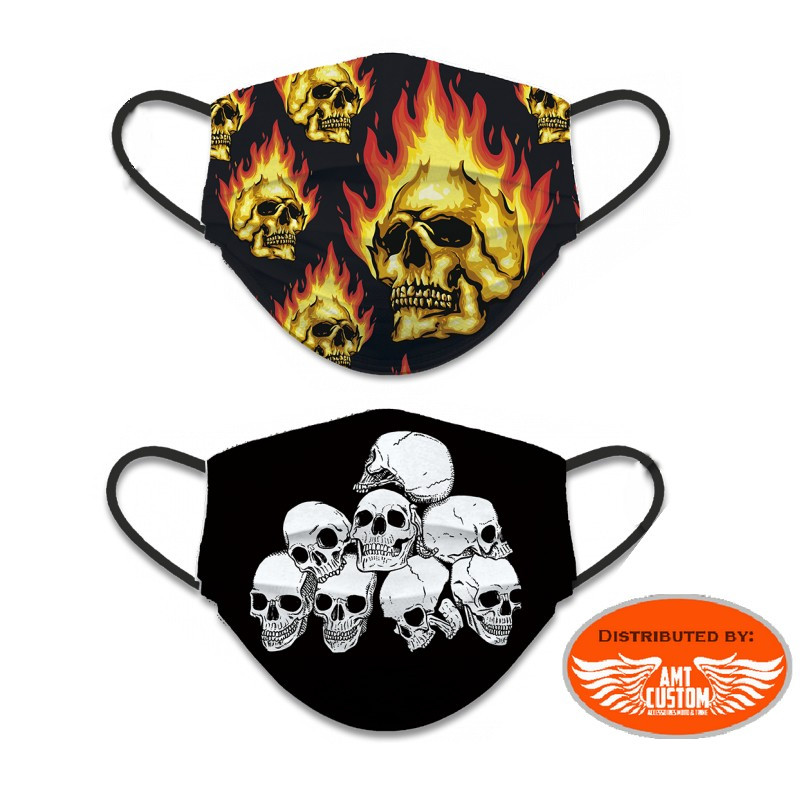 Reversible skull / flame protective mask