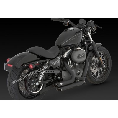 Echappement Harley Sportster XL Noir Slash-Cut Black Short