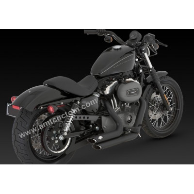 Echappement pour Harley Sportster XL Noir Slash-Cut Black Short Vance