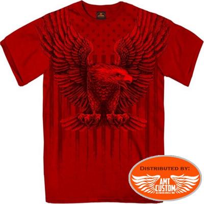 Red Eagle USA MC Biker T-Shirt