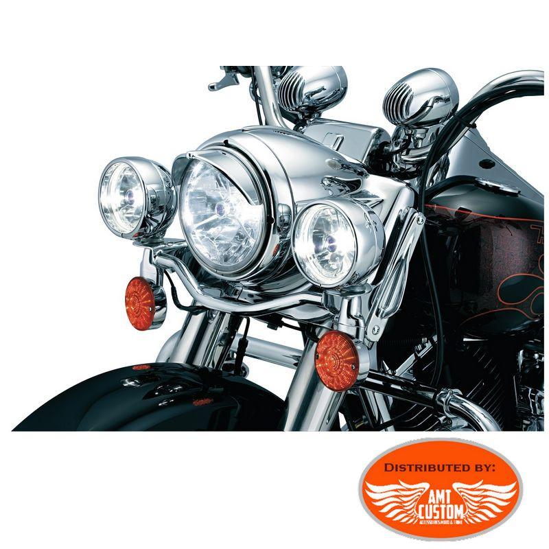 """Yamaha Chrome Headlight Visor 7"""""""