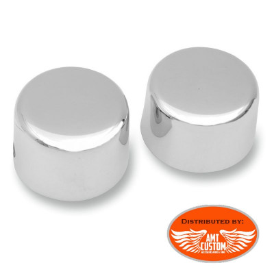 Softail Covers axle caps Chrome for Harley Davidson