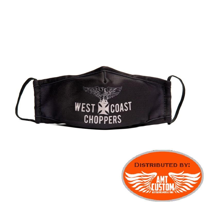 West Coast Choppers WCC sweat Veste Gilet zippé Noir Tête de Mort Croix de Malte