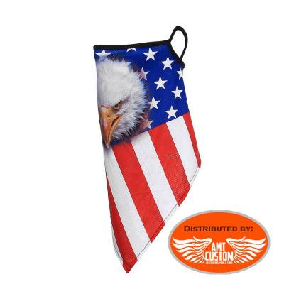 Eagle USA Flag Scarf Mask