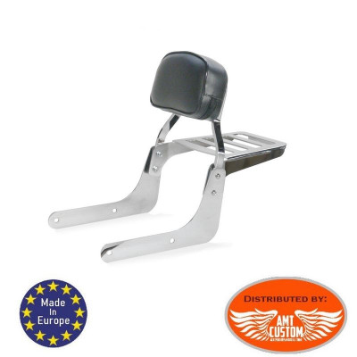 Dyna Low Sissy Bar luggage rack Chrome for FXD Street Bob - Super Glide - Wide Glide - Fat Bob - Low Rider