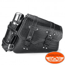 Swingarm Bag with bottleholder For Harley, Suzuki and Yamaha